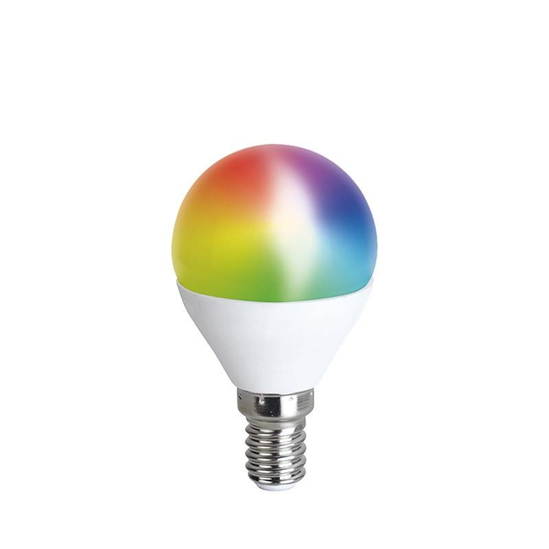 Solight LED SMART WIFI žárovka, miniglobe, 5W, E14, RGB, 400lm